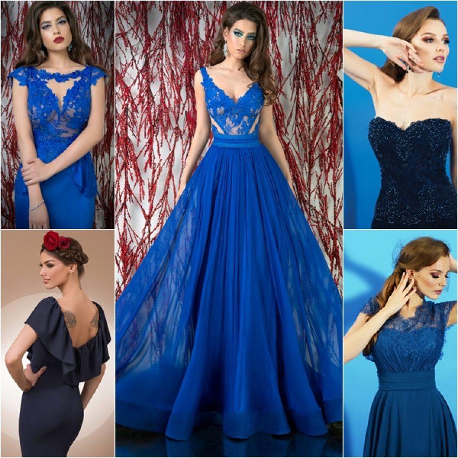 Rochii de seara albastre in trend